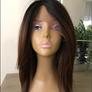 BROWN OMBRÉ SWISS LACE FRONT FREE PARTING WIG